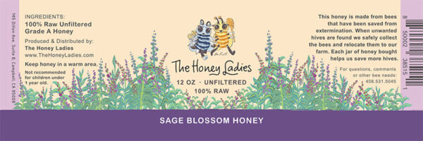 Sage Blossom honey label