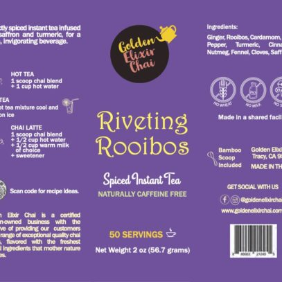 Riveting Rooibos – Spiced Instant Chai 2oz.