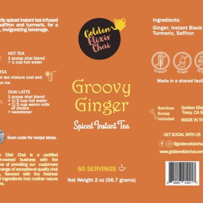 Groovy Ginger – Spiced Instant Chai 2oz.