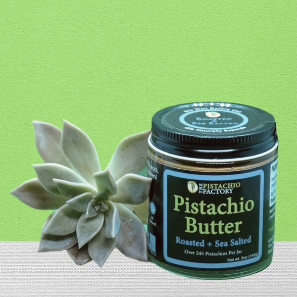 image of a jar for salted roasted pistachio butter
